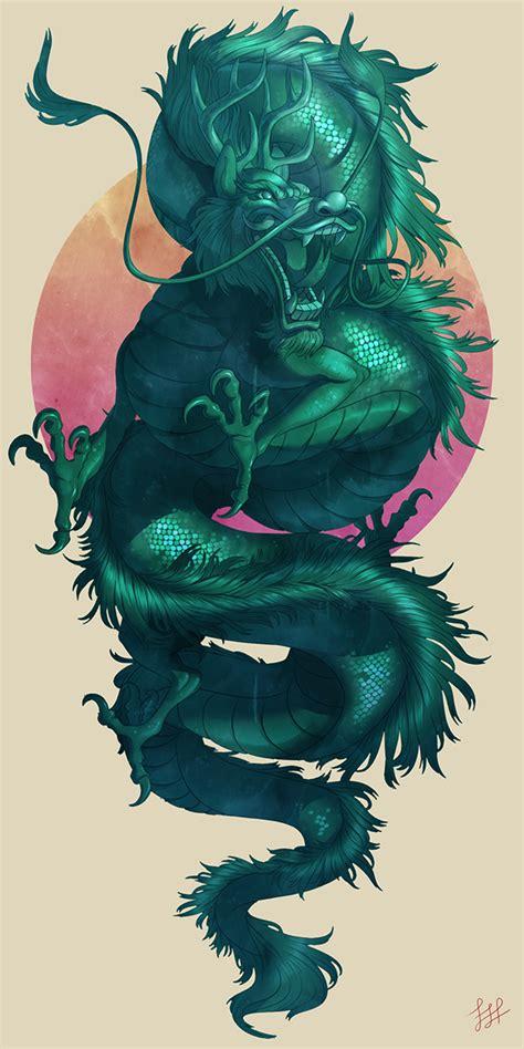jade dragon by lydia praamsma via behance illustration