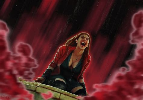 Poster The Age Of Ultron Scarlet Witch Ukuran A3 wanda scarlet witch age of ultron by kletka on deviantart