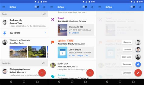 themes for google inbox 10 material design android apps you should be using right
