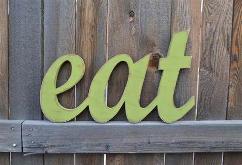 Word For Kitchen by Eat Sign Kitchen Wall Words Wooden By Alittlemiscellany On