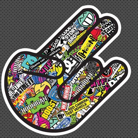 jdm  shocker sticker  shipping jdm stickers