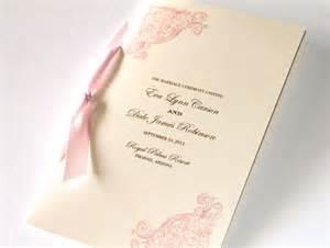 vintage wedding program elegant wedding program ceremony