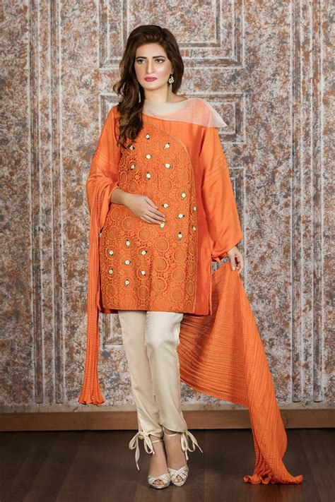 design dress code exclusive orange and off white casual wear zzc194