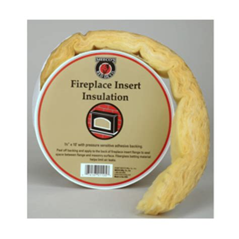 fireplace insert insulation adhesive fiberglass