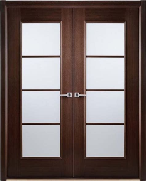 Doors Glass Interior Modern Interior Bifold Doors Frosted Glass