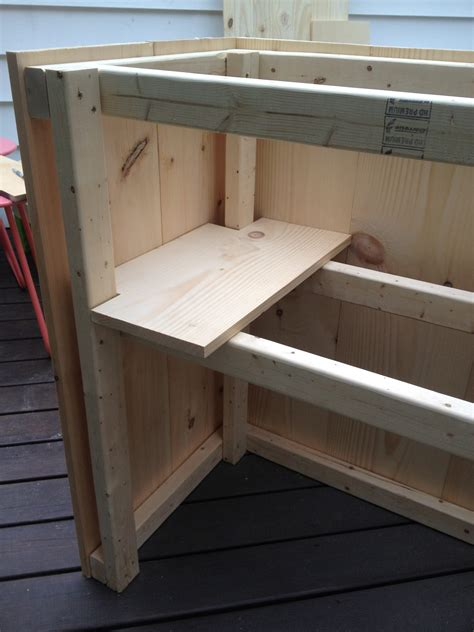 build your own l diy outdoor bar with built in cooler