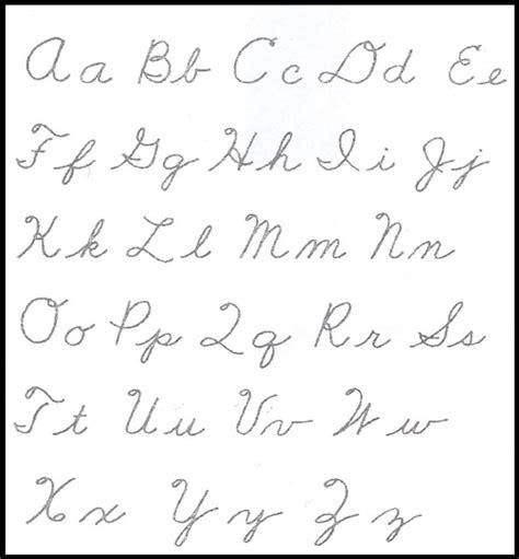 printable alphabet in script printable cursive alphabet new calendar template site