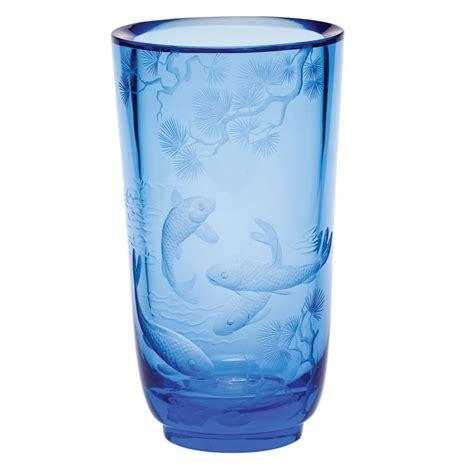 Moser Vase by Moser Paradise 12 Inch Vase Aquamarine