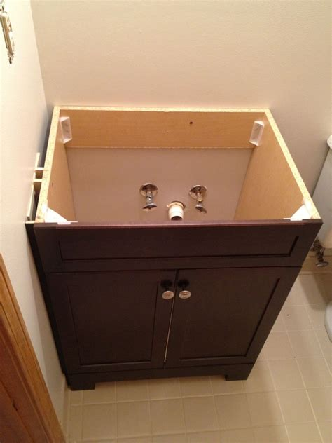 how to install bathroom vanity against wall how to replace and install a bathroom vanity