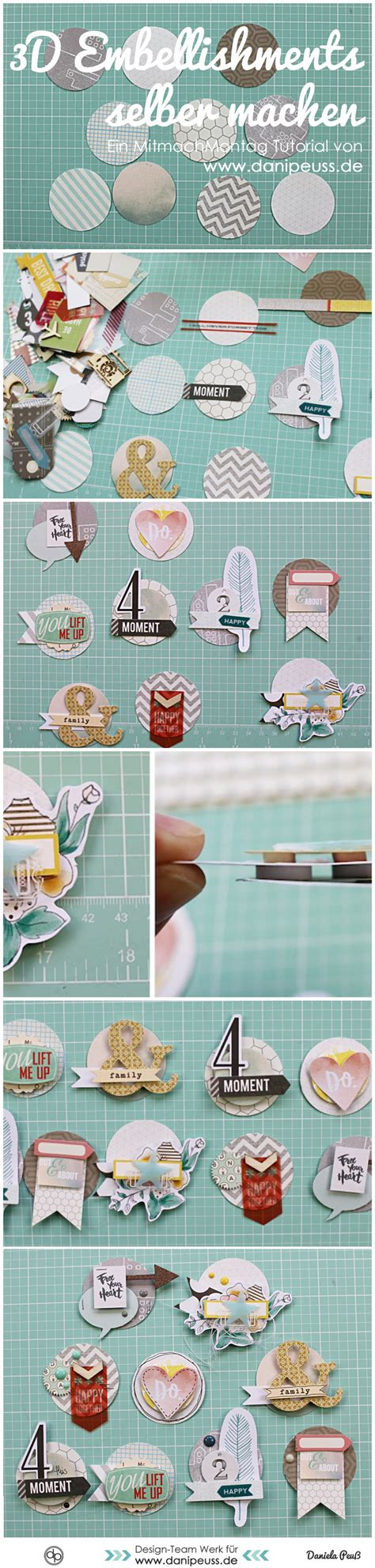 tutorial scrapbook 3d diy 3d scrapbooking embellishments selber machen ein