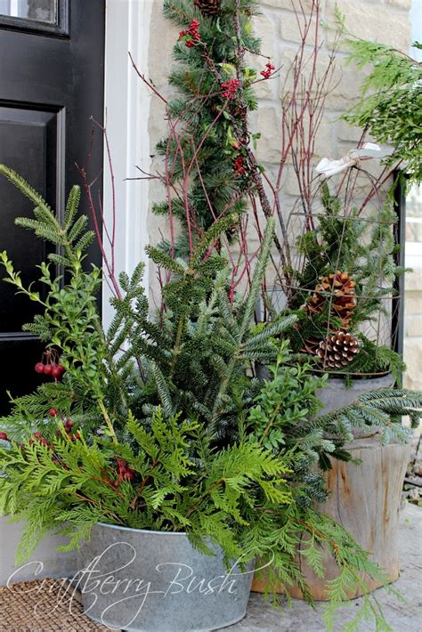 Rustic Tablescapes the front porch and helping christmas evergreens last longer