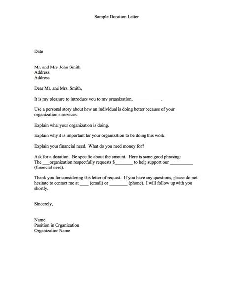 letter template asking for donations letter asking for donations writing professional letters