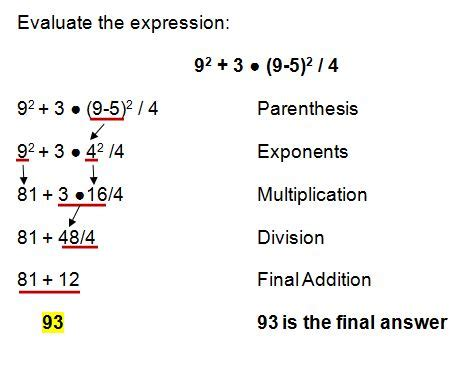 Order Of Operations And Evaluating Expressions Worksheets by All Worksheets 187 Order Of Operations And Evaluating