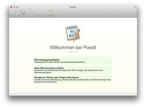 Wordpress Theme Generator Mac Os X | poedit 220 bersetzung von sprachdateien f 252 r wordpress themes