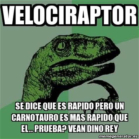 Que Es Un Meme - meme filosoraptor velociraptor se dice que es rapido