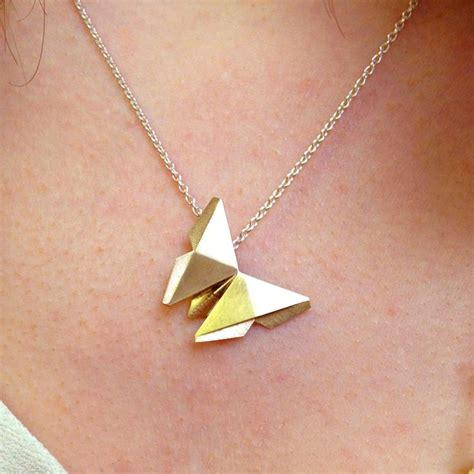 Origami Charm - 25 best ideas about butterfly necklace on