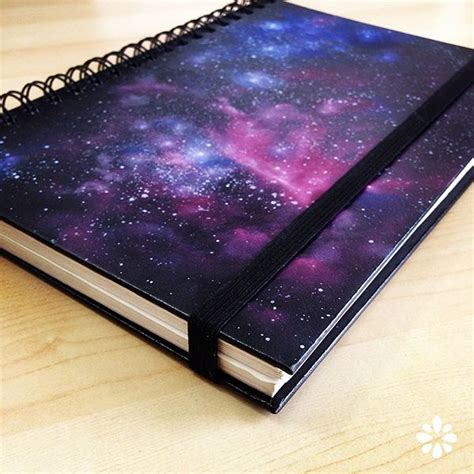 galaxy pattern notebook diy galaxy print click to watch a tutorial on how to