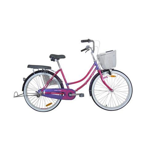 Sepeda Yang Ada Keranjang Nya jual united class x sepeda keranjang 24 inch