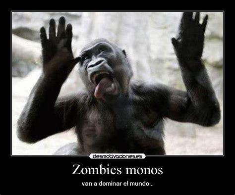 imagenes zombies graciosos zombies monos desmotivaciones
