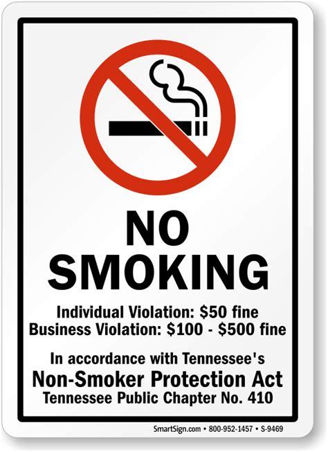 no smoking sign arizona tennessee no smoking signs no smoking signs by state