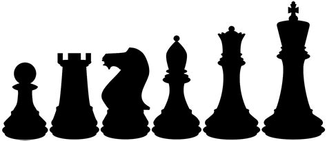 Chess Set by Chess Pieces Silhouette Free Vector Silhouettes