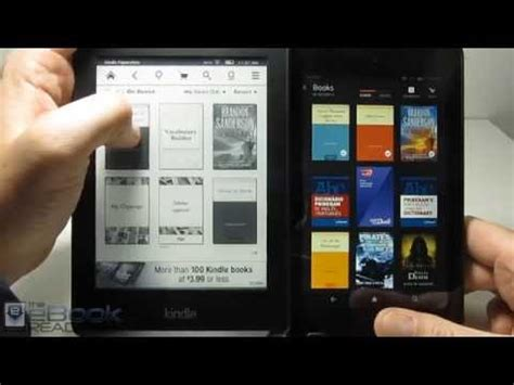 kindle paperwhite  fire hd  comparison review youtube