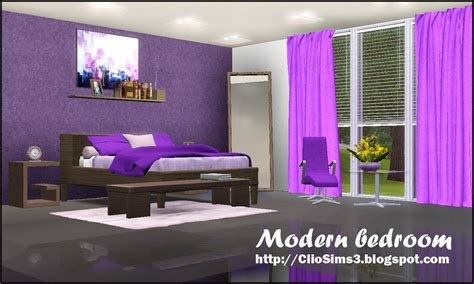 bedroom sims 3 my sims 3 blog modern bedroom set by clio