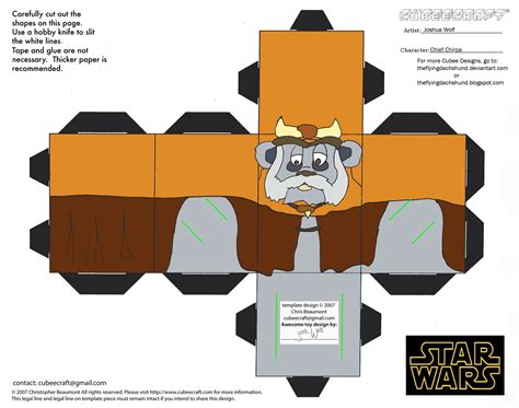 doodle jump papercraft sw4 chief chirpa cubee by theflyingdachshund on deviantart