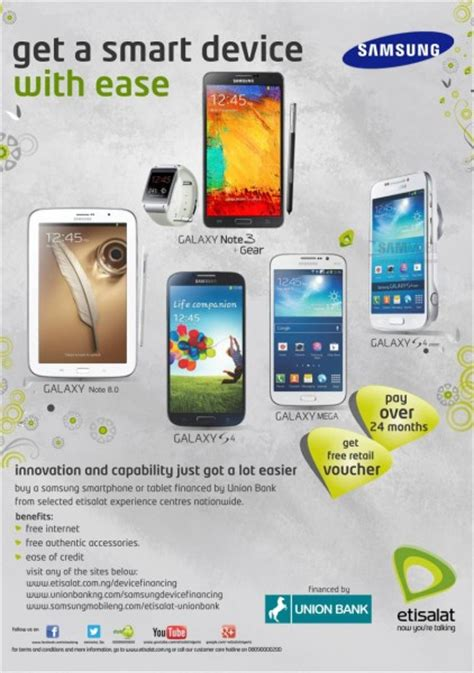 samsung mobile etisalat union bank launch new
