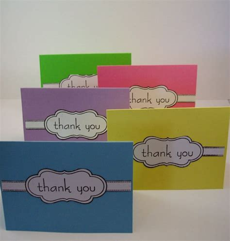 Handmade Thank You Notes - handmade thank you note cards things i ve made