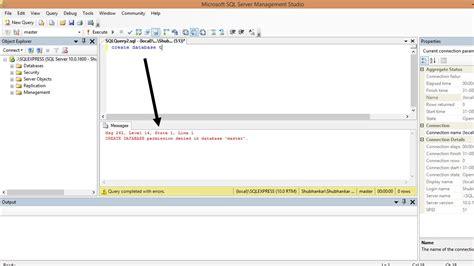 make database sql create database permission denied in database