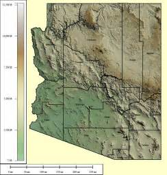 arizona relief map topocreator create and print your own color shaded