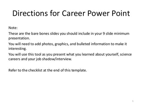 Exle Career Portfolio Career Portfolio Template Powerpoint