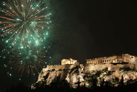 athens greece new year fireworks 2017 new year 2017
