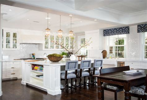 Open Front Kitchen Cabinets House With Comfortable Coastal Interiors Home
