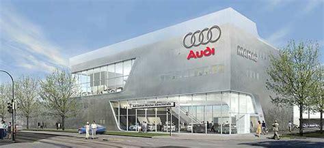 Audi Autohaus M Nchen by Mahag Bau Des Weltweit Ersten Audi Terminal Begann In