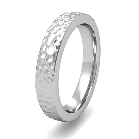 flat wedding band platinum gold or platinum flat comfort fit wedding band for him and