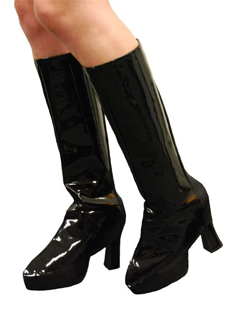 gogo boot covers black white or