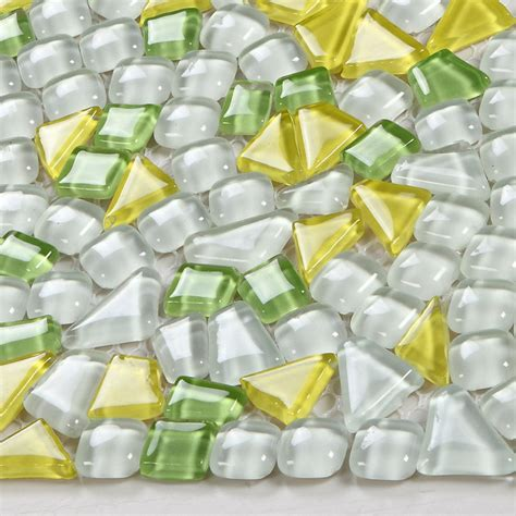 glass mosaic tile sheets pebble glass tile designs
