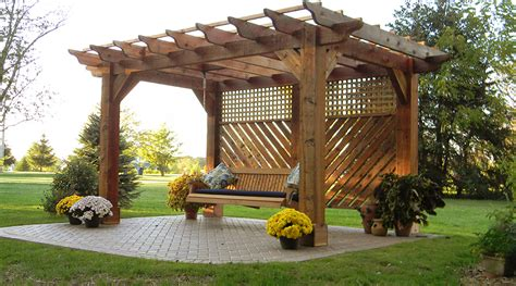 swing columbus pergola with swing in johnstown ohio landscaping