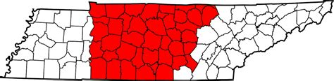 middle tn map tennessee population estimates 2016 bluff city