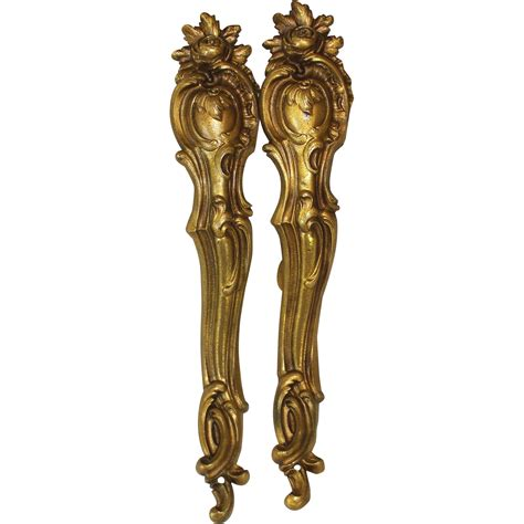 antique drapery antique french gilt bronze drapery curtain rod holders