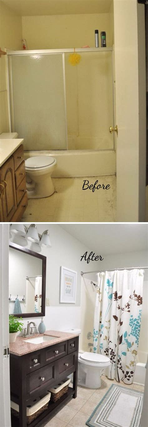 Mobile Home Bathroom Makeovers by Before And After 20 Awesome Bathroom Makeovers