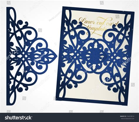 cut out templates for credit cards abstract cutout wedding invitation suitable lasercutting