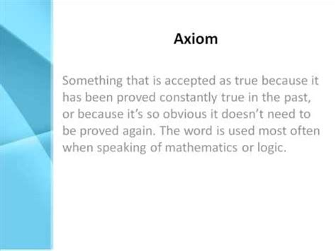 what does it to be a axiom definition what does axiom