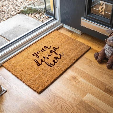 personalised doormat   design tess