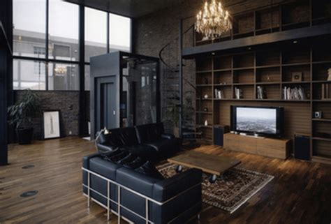 brown and black living room black brown hardwood interior design leather living