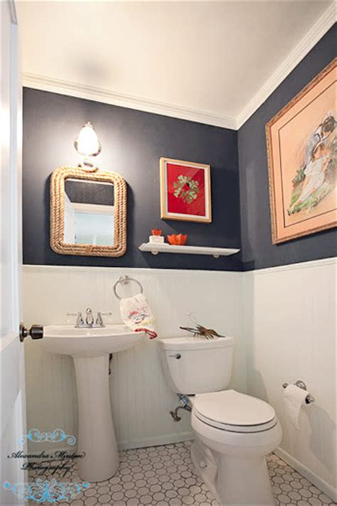 young house love bathroom reader redesign bathroom red white blues young house