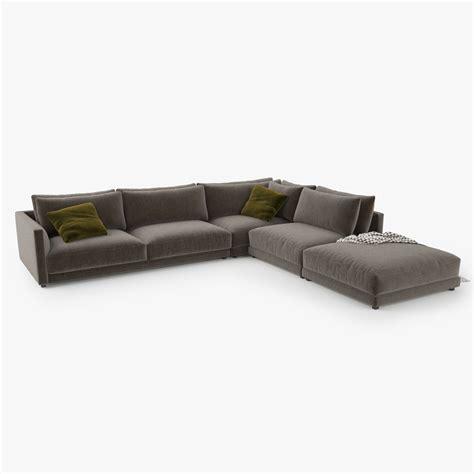 sofa bristol poliform bristol sofa 3d model 3d model max obj 3ds fbx