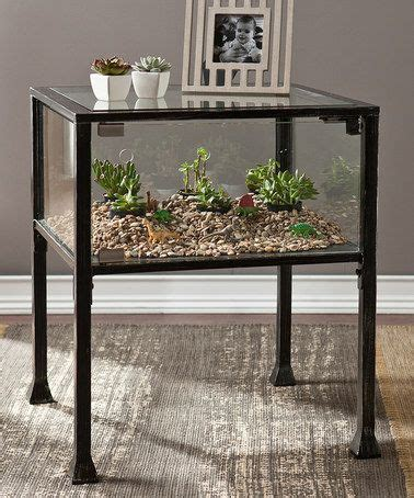 southern enterprises terrarium display console table zulily 104 best images about everything terrarium on pinterest